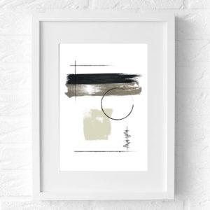 poster abstract zwartwit lijst