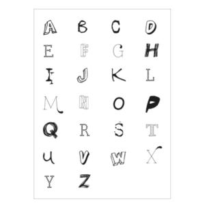 alfabet letter poster muur wit