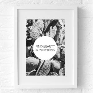 beauty poster fotografie zwart wit muur