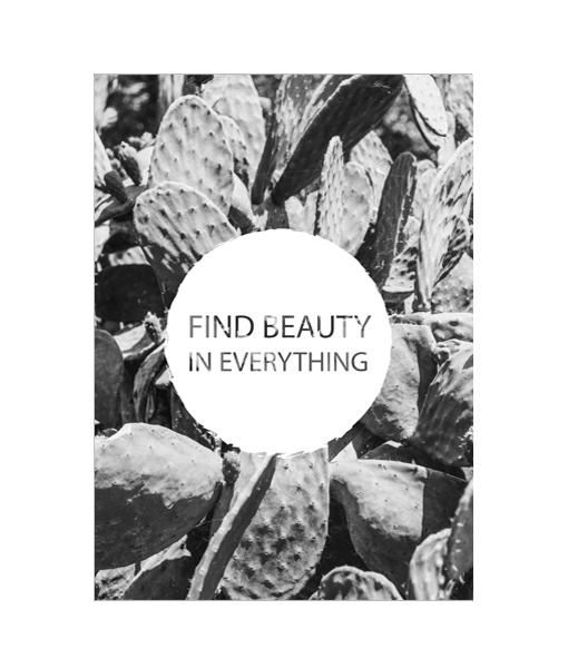 beauty poster fotografie zwart wit