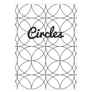 circles poster zwart wit