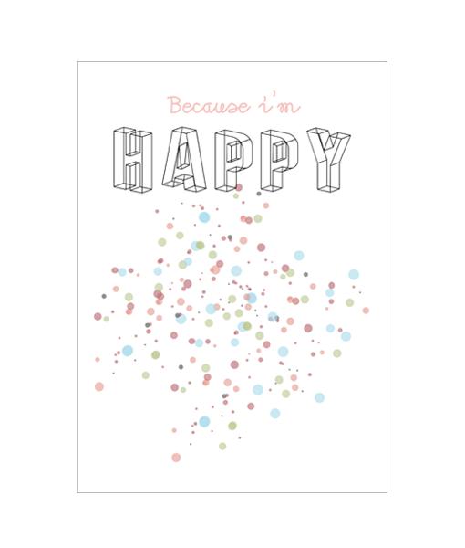 poster interieur happy kleur