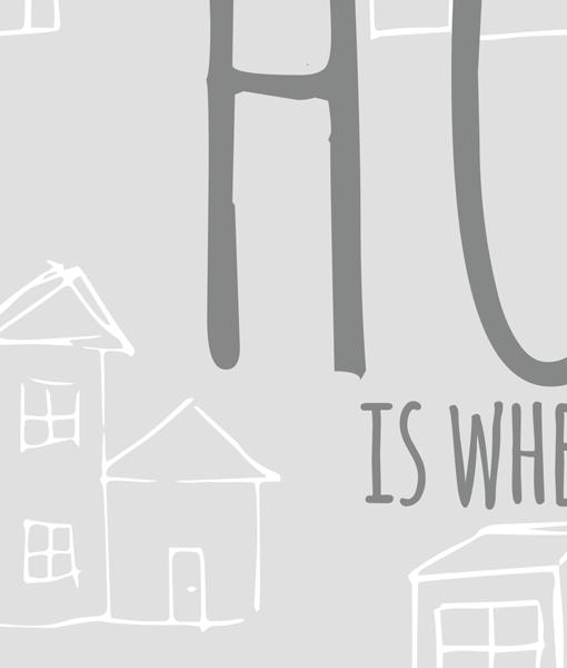 Heart Home Poster Zwart Wit lijst