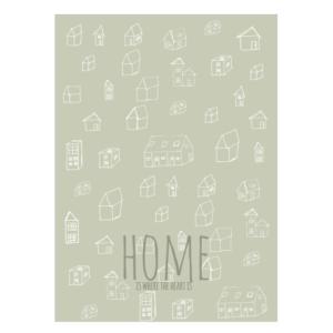 Home heart tekst poster