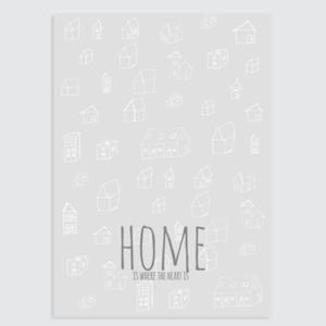 Interieurposter Grijs Home grijs