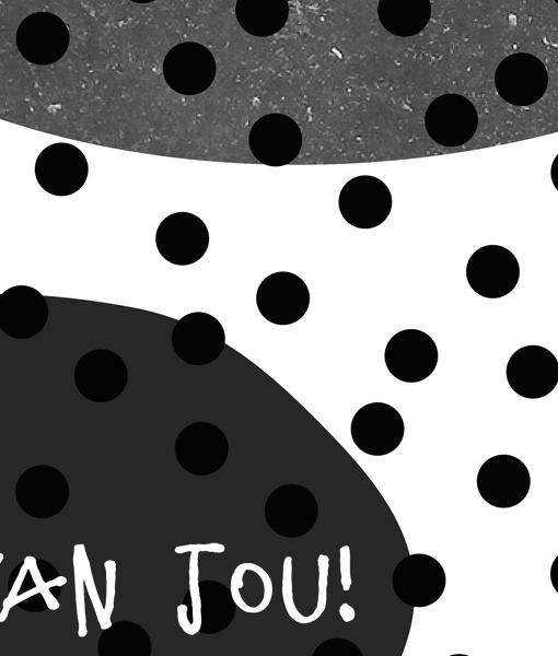 liefde poster zwart wit detail