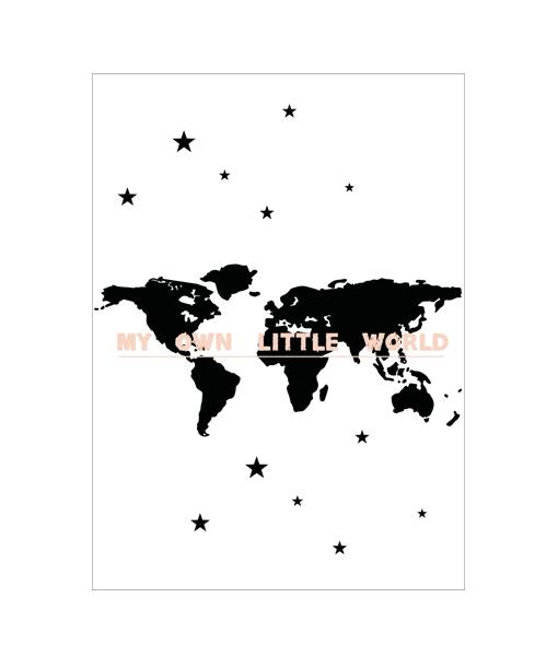 wereld kinderkamer poster
