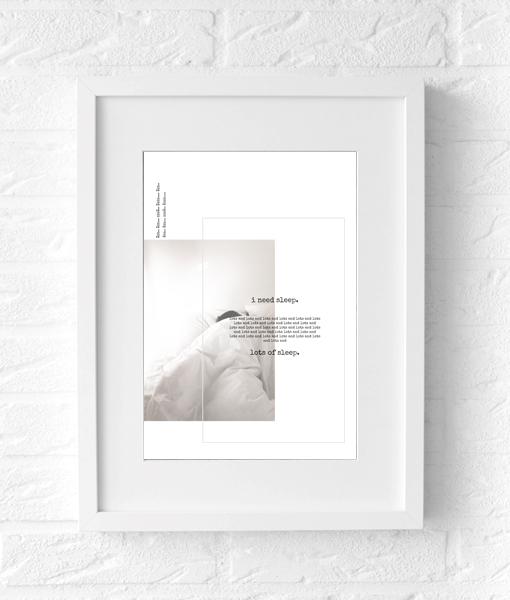 slaapkamer tekst poster fotografie muur