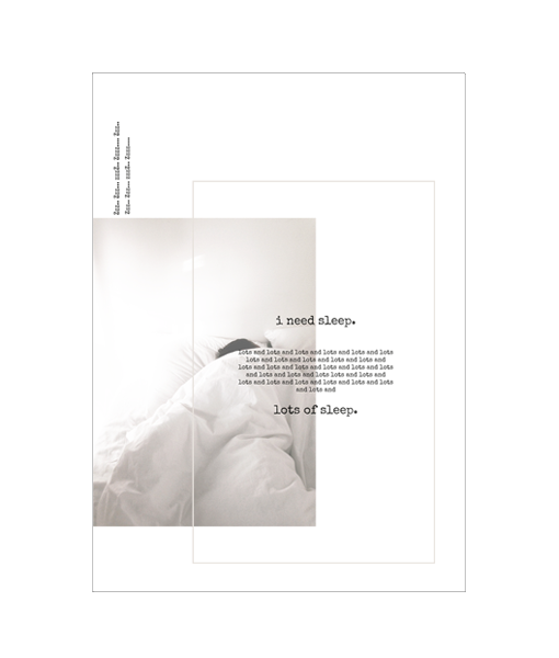 slaapkamer tekst poster fotografie