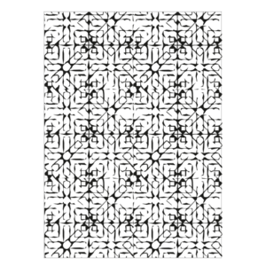 print abstract poster zwart wit