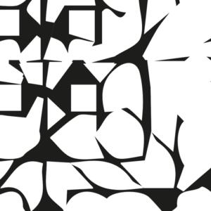 print abstract poster zwart wit muur detail