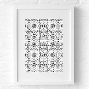 print zwart wit poster muur