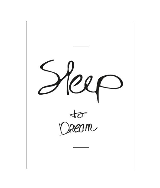Slaapkamer poster zwart wit tekst