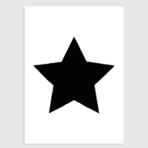 Zwart wit kinderkamer poster