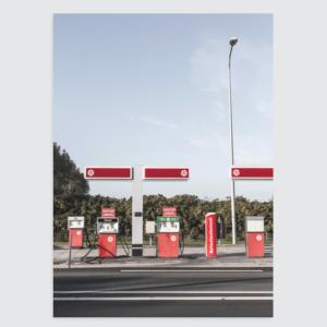 Fotografie Texel Poster Tankstation (kleur) Homemade Poster