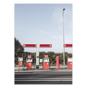 Tankstation foto poster