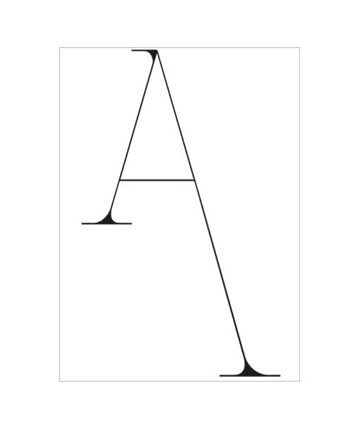 Alphabet Poster Letter A Homemade Poster zwart wit