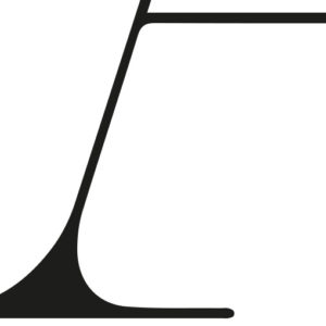 Zwart wit abstracte poster Detail Alphabet Letter A