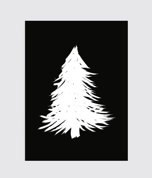 Origineel kerstcadeau poster kerst zwart wit