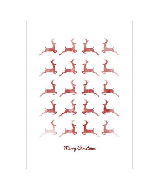 Poster Kerst Red Deers Fading