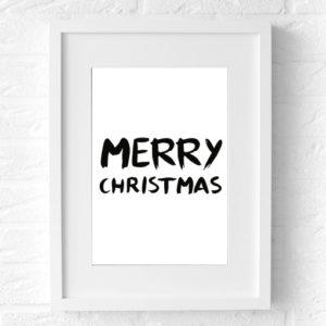 Merry Christmas kerstposter Muur