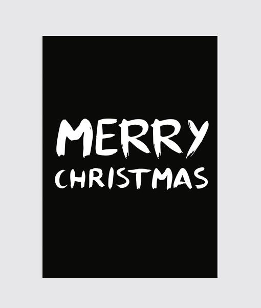Merry Christmas Poster kerst zwart wit