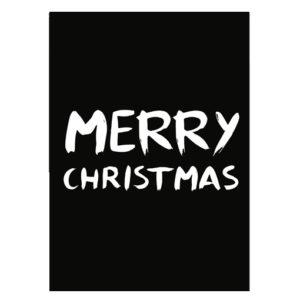 Kerst poster zwart wit Merry Christmas