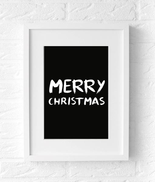 Poster kerst Merry Christmas Muur