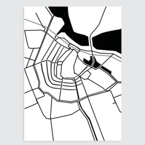 zwart wit poster amsterdam