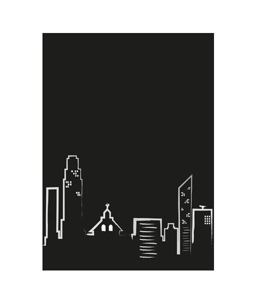 poster kaart stad