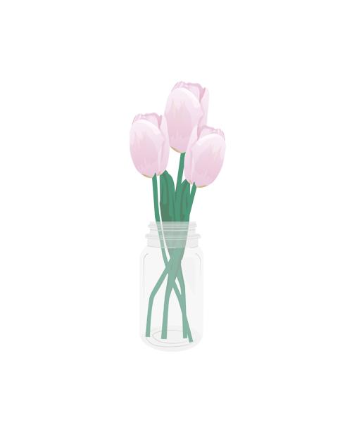 tulpen poster interieur roze