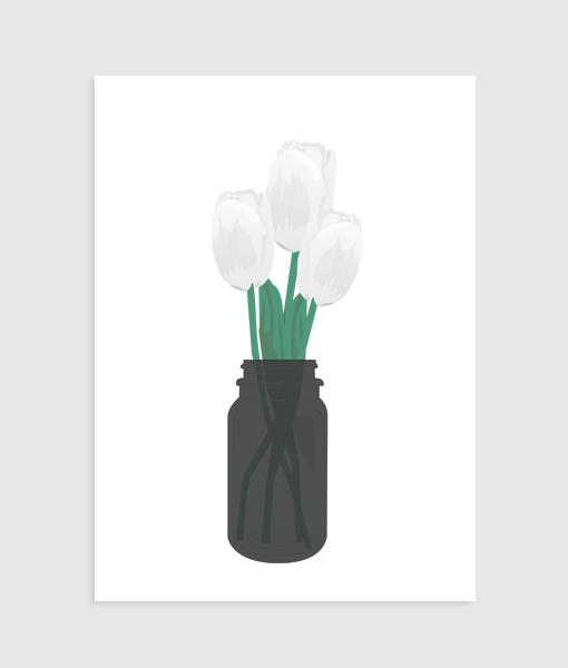 hollandse tulpen voorjaar poster