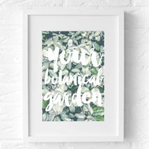 botanische poster tekst