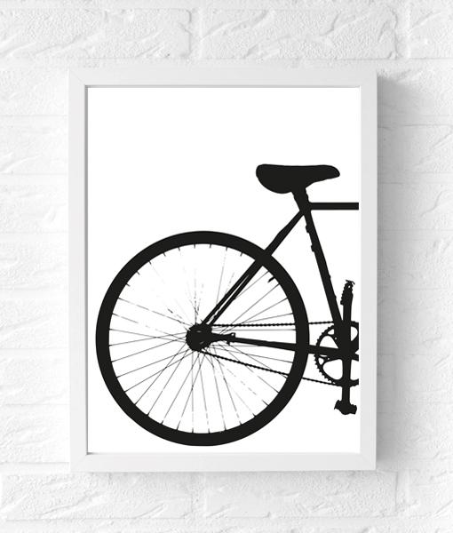 industriele-poster-fiets-zwart-wit