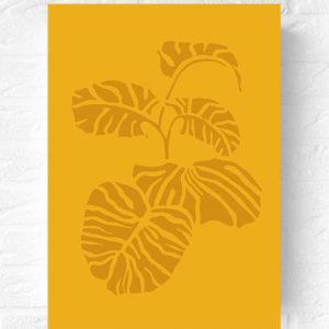 vingerplant-botanische-poster-monstera-muurposter