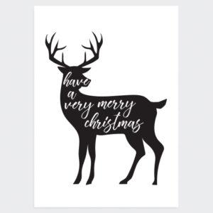 Kerstposter Very Merry Christmas Gray