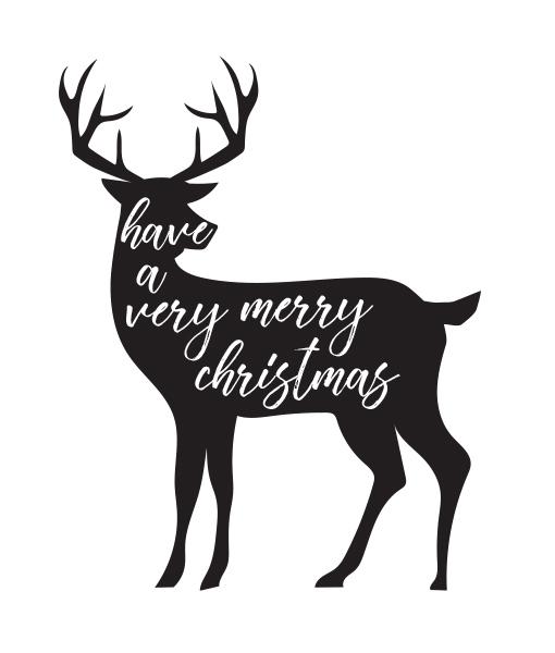 Kerstposter Very Merry Christmas Wit