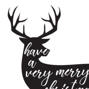 Kerstposter Very Merry Christmas Zoom